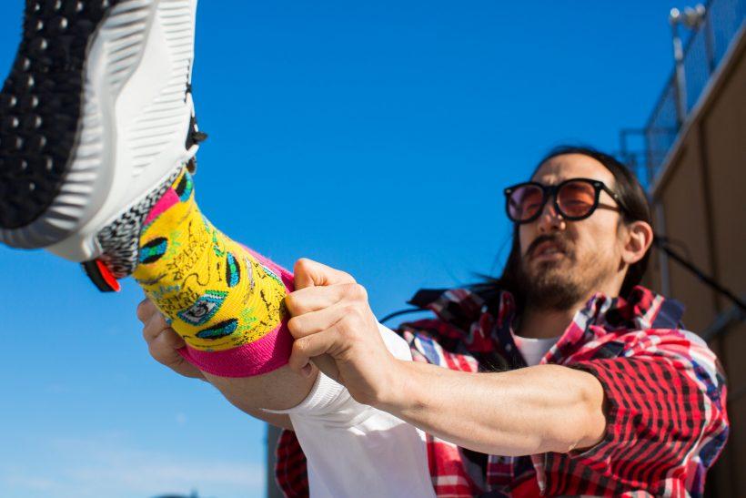 Happy Socks Gets Caked by Legendary DJ Steve Aoki – ICEKREAM